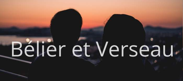 Homme Bélier et Femme Verseau : Compatibilité des signes