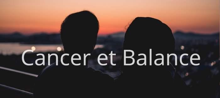 Homme Cancer et Femme Balance : Compatibilité des signes