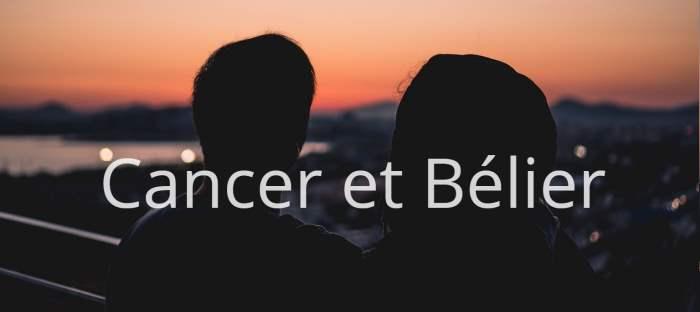 Homme Cancer et Femme Bélier : Compatibilité des signes