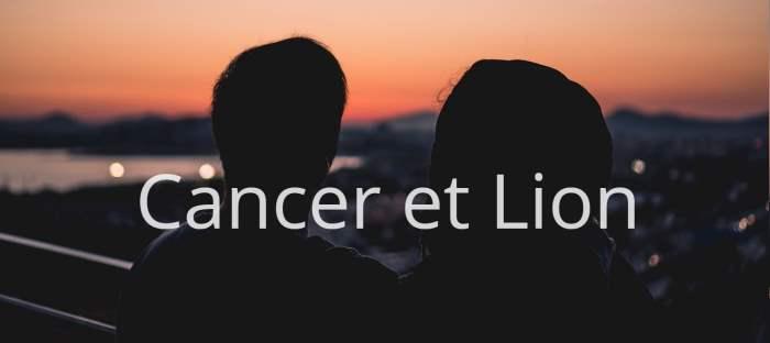 Homme Cancer et Femme Lion : Compatibilité des signes