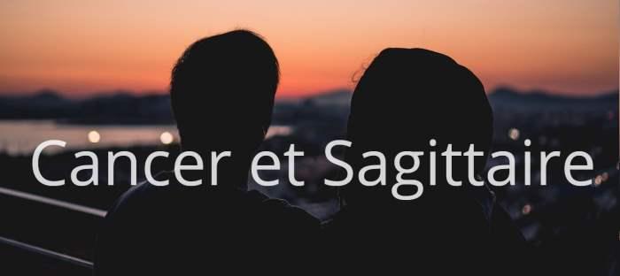 Homme Cancer et Femme Sagittaire : Compatibilité des signes