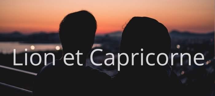 Homme Lion et Femme Capricorne : Compatibilité des signes