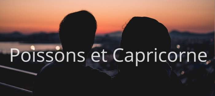 Homme Poissons et Femme Capricorne : Compatibilité des signes