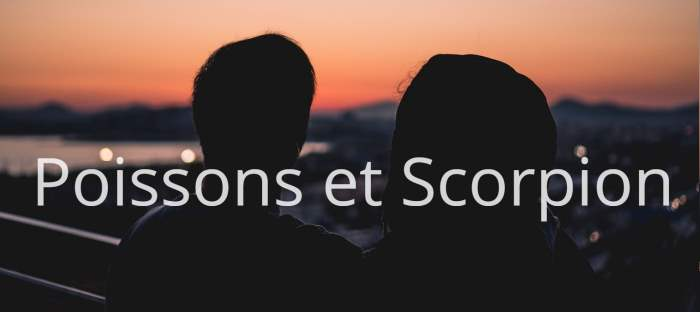 Homme Poissons et Femme Scorpion : Compatibilité des signes
