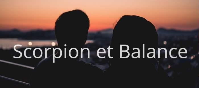 Homme Scorpion et Femme Balance : Compatibilité de signes