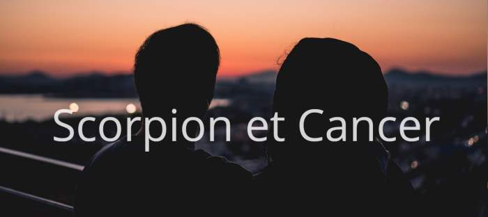 Homme Scorpion et Femme Cancer : Compatibilité des signes