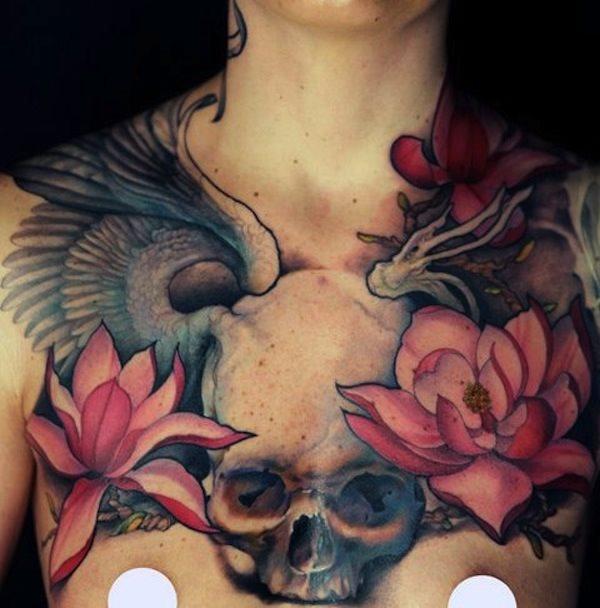 Que symbolise une fleur de lotus sur un tatouage?
